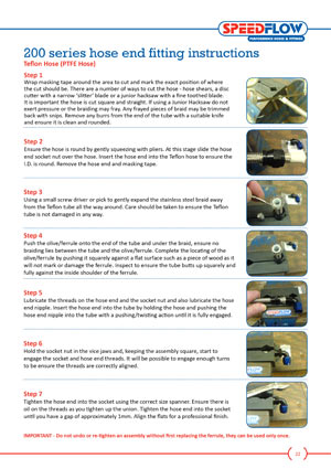 AN fitting guide